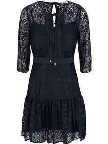 Tmavě modré krajkové šaty s 3/4 rukávy Closet