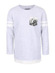 Bluză gri pentru băieți Name it Kroels cu imprimeu