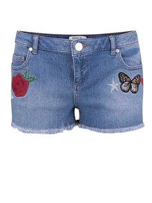 Pantaloni scurți din denim Miss Selfridge Petites cu aplicații