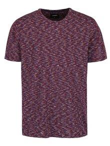 Vínové melírované tričko Burton Menswear London