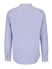 Camasa alba cu dungi albastre si buzunar - Selected Homme Collect