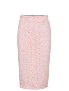 Světle růžová pouzdrová sukně s vyšším pasem Dorothy Perkins