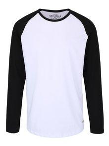 Biele tričko s čiernymi rukávmi Jack & Jones Stan