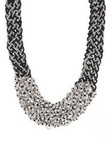 Náhrdelník v černo-stříbrné barvě Pieces Pina