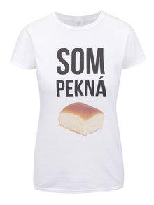 Bílé dámské tričko ZOOT Originál Som pekná buchta