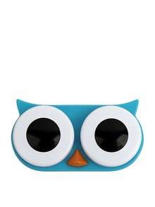 Cutie pentru lentile de contact bufniță albastră KIKKERLAND