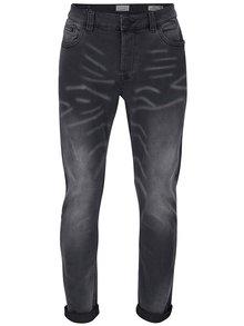 Šedé slim džíny s vyšisovaným vzorem ONLY & SONS Loom