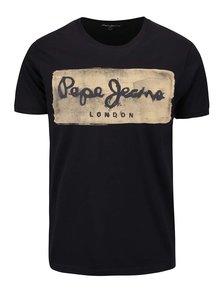 Černé pánské tričko s potiskem Pepe Jeans Charing