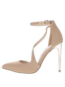Béžové topánky na ihličkovom podpätku Miss Selfridge