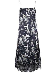 Černé květované šaty na ramínka Miss Selfridge