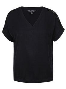 Tricou negru Miss Selfridge cu decolteu în V