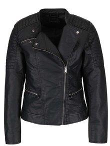 Černá koženková bunda ONLY New Start