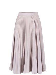 Svetlosivá plisovaná midi sukňa Closet