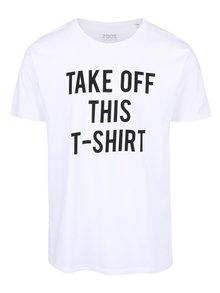 Tricou alb din bumbac organic ZOOT Take Off pentru bărbați