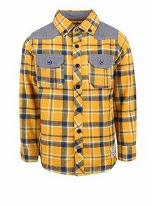 Šedo-žlutá klučičí kostkovaná košile Blue Seven
