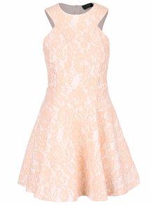 Marhuľové vzorované šaty AX Paris