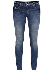 Modré dámské slim low waist džíny ONLY Carrie Low