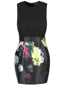 Čierne šaty s farebnými kvetmi AX Paris