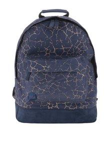 Modrý unisex batoh se vzorem ve zlaté barvě Mi-Pac Nordic 17 l