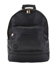 Černý unisex koženkový batoh se zipem ve zlaté barvě Mi-Pac Tumbled