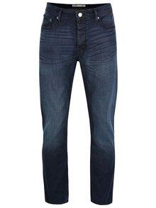 Tmavě modré vyšisované skinny džíny Burton Menswear London