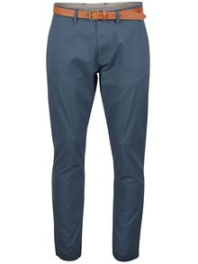 Pantaloni chino albaștri Selected Homme Yard