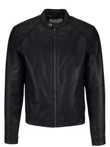 Černá koženková bunda Jack & Jones Original