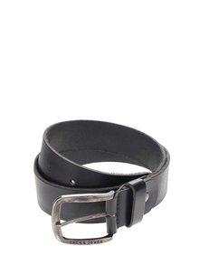 Černý kožený pásek Jack & Jones Paul