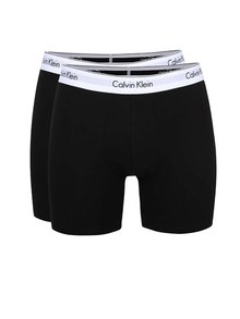 Súprava dvoch dlhších boxeriek v čiernej farbe Calvin Klein