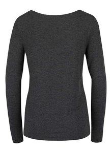 Tmavosivé melírované tričko s dlhým rukávom ONLY Jewel