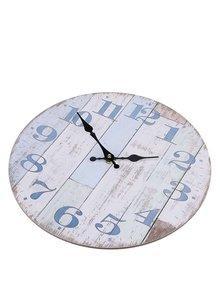 Modro-krémové vintage hodiny Dakls