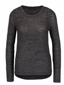 Tmavosivý melírovaný pletený sveter ONLY Geena