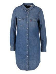 Modré rifľové šaty s dlhým rukávom Levi's®