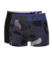 Sada dvou boxerek v černé a šedé barvě Björn Borg