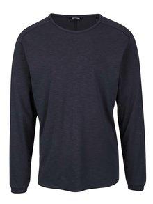 Tmavě modré žíhané tričko s dlouhým rukávem ONLY & SONS Karl