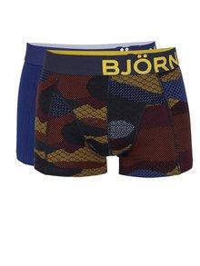 Sada dvou boxerek v tmavě modré a černé barvě se vzorem Björn Borg