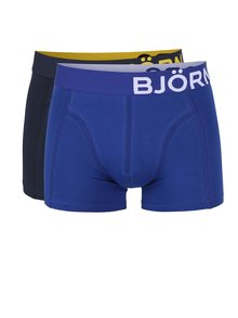 Sada dvou boxerek v modré a šedé barvě Björn Borg