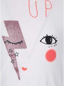 Krémové holčičí tričko s dlouhým rukávem name it Akima
