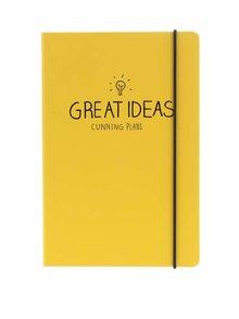 Žltý zápisník A5 Happy Jackson Great Ideas