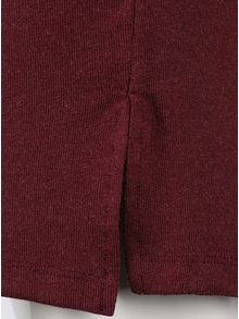 Vínové voľnejšie šaty s dlhým rukávom VILA Nimas