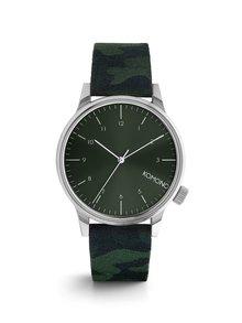 Unisex hodinky v striebornej farbe Komono Winston Print