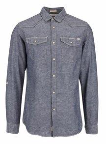 Tmavě modrá košile s džínovým designem Jack & Jones Arvin