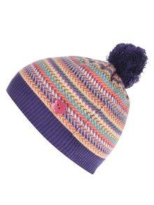 Fialová pletená dievčenská čiapka s brmbolcom Bóboli