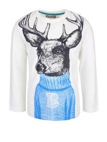 Bluză crem cu imprimeu Boboli pentru băieți