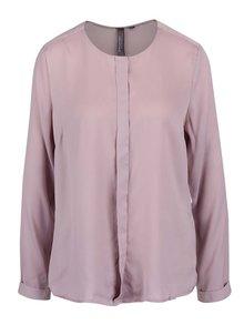 Bluză roz pal Broadway Nadasia cu nasturi