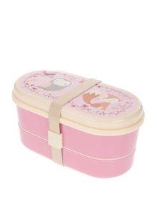 Růžový svačinový box se zvířátky Sass & Belle
