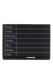 Černá týdenní plánovací tabule Sass & Belle Weekly