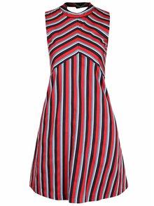 Rochie cu imprimeu cu dungi Closet roșie