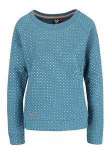 Modrá dámská mikina s puntíky Ragwear Kind Dots