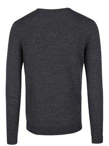 Sivý melírovaný sveter z Merino vlny Selected Homme Tower